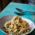 Lawar Ayam (Balinese Long Bean Coconut Chicken Salad)