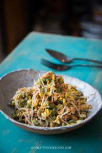 Lawar Ayam (Balinese Long Bean Coconut Chicken Salad)
