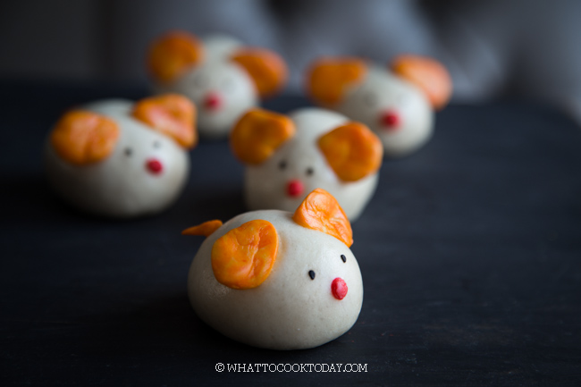 Lunar New Year The Year of Rat Chinese Steamed Buns