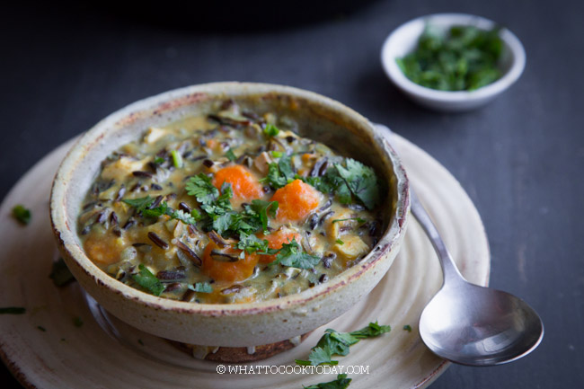 Instant Pot Creamy Curry Wild Rice Soup (DF and GF)
