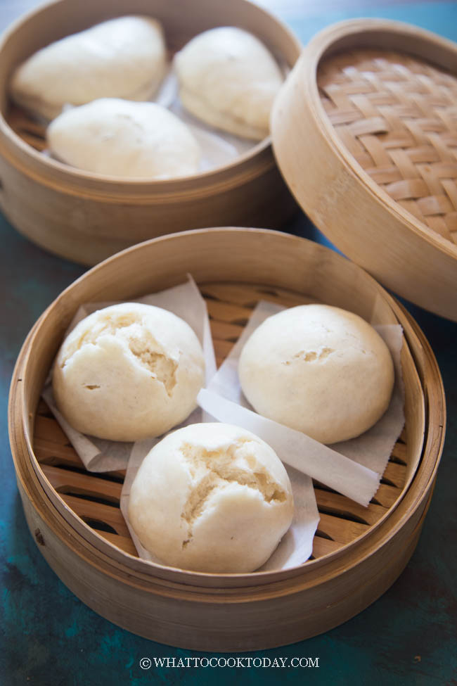 Soft and Fluffy No Yeast Chinese Steamed Buns (So Easy Too!)