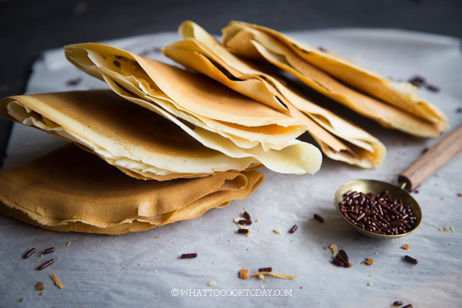 Crispy Apam Balik (Crispy Crepes - Kue Leker)