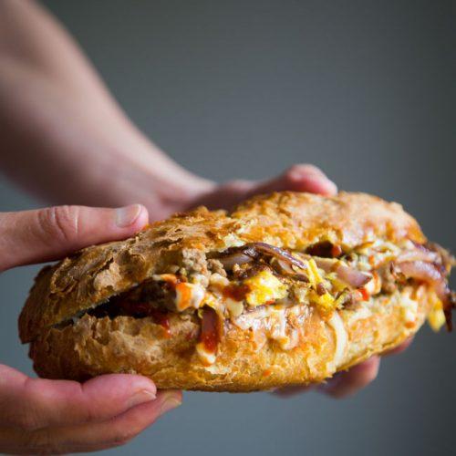 Singapore Roti John (Omelette Baguette Sandwich)