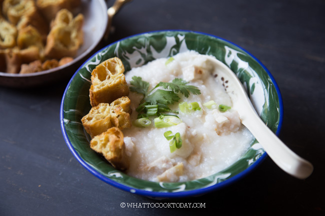Easy and Quick Chinese Rice Congee (with Leftover Cooked Rice)