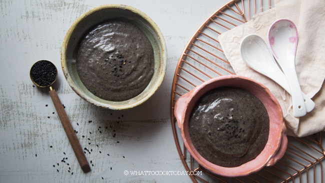 Easy Cantonese Sweet Black Sesame Soup Dessert