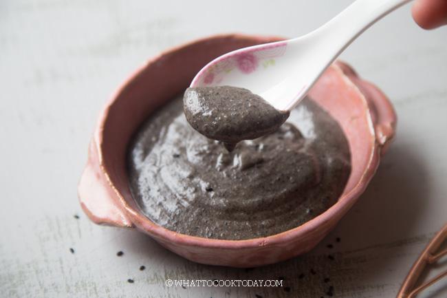 easy cantonese sweet black sesame soup dessert