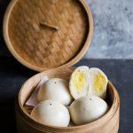 Soft Fluffy Steamed Custard Buns (Nai Wong Bao)