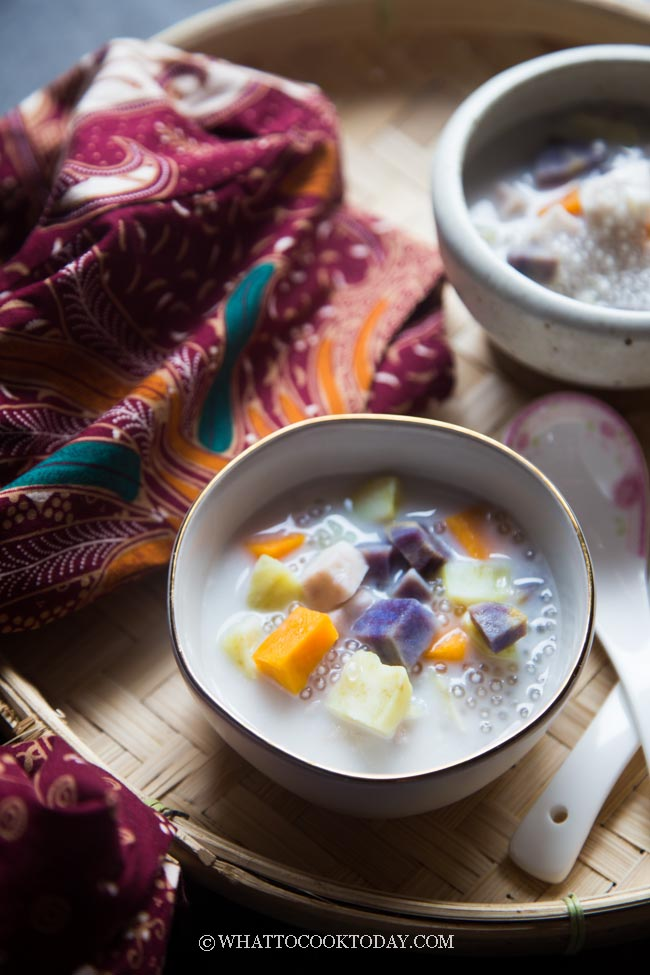 Bubur Cha Cha / Bubur U Ce Ce (Medley Sweet Potatoes Coconut Milk Dessert)