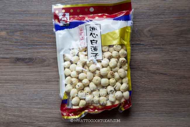 dried peeled lotus seeds