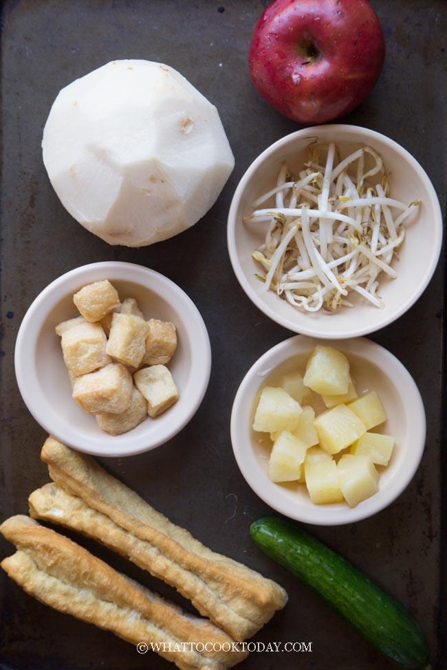 Chinese Rojak (Chinese Mixed Fruit and Veggie Salad)