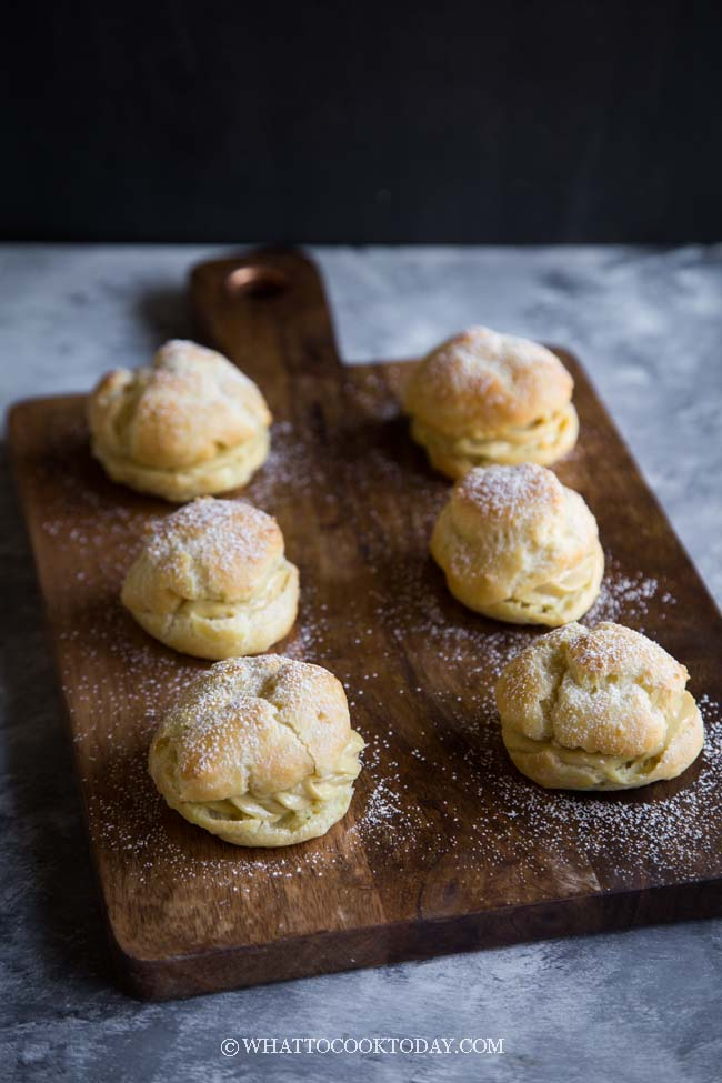 Easy Durian Cream Puffs (Choux Pastry)