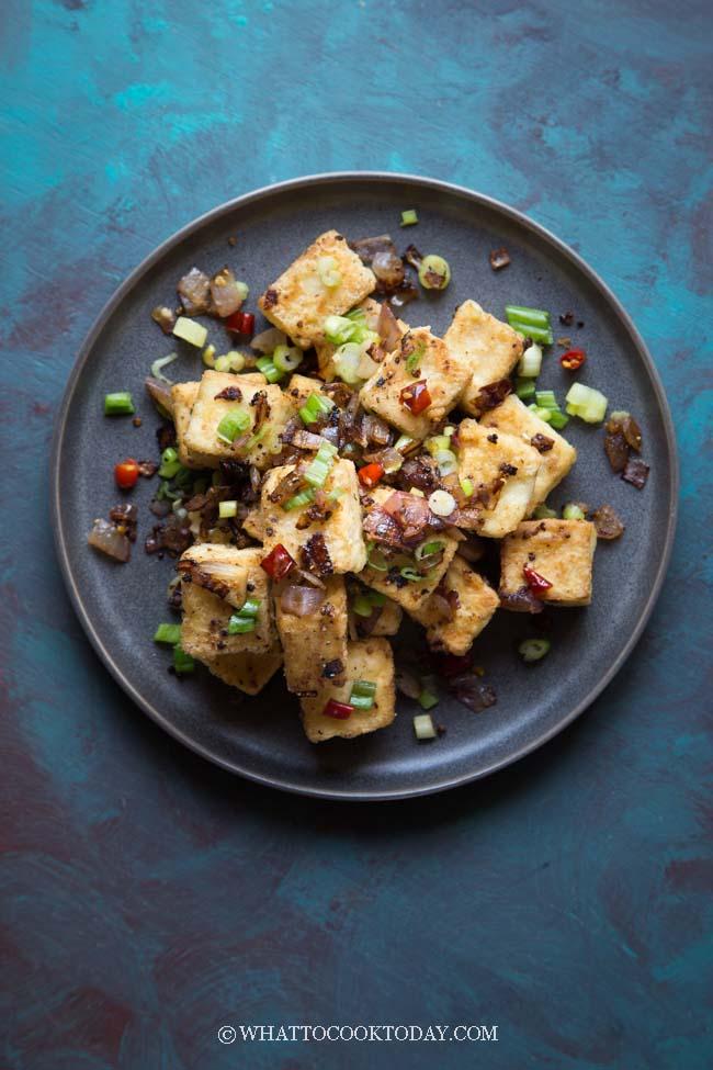 Crispy Salt Pepper And Chili Tofu Tahu Lada Cabe Garam