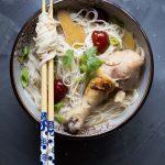 Easy Taiwanese Sesame Wine Chicken Mee Sua