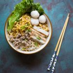 Fish Ball Mee Pok Noodle (Mee Pok Tah)