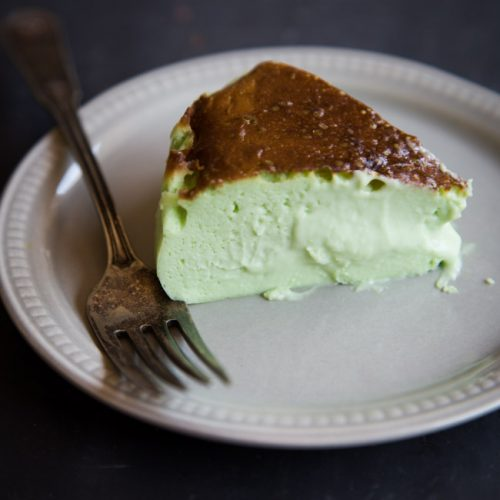 Air Fryer Japanese Pandan Basque Burnt Cheesecake (with Melty Creamy Inside)
