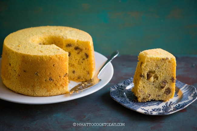 Cotton Soft Pumpkin Walnut Chiffon Cake