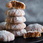 Soft Sweet Red Bean Paste Crinkle Cookies