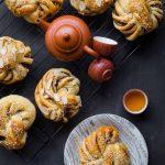 Soft Tangzhong Red Bean Paste Swirl Buns