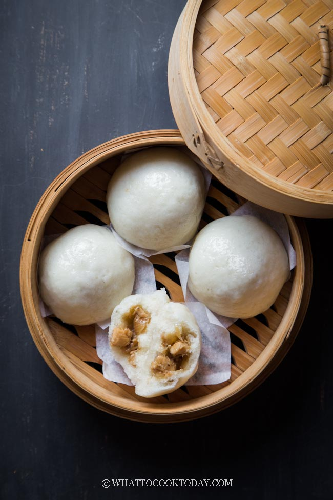 Soft Fluffy Gluten-Free Chinese Steamed Buns (Baozi)