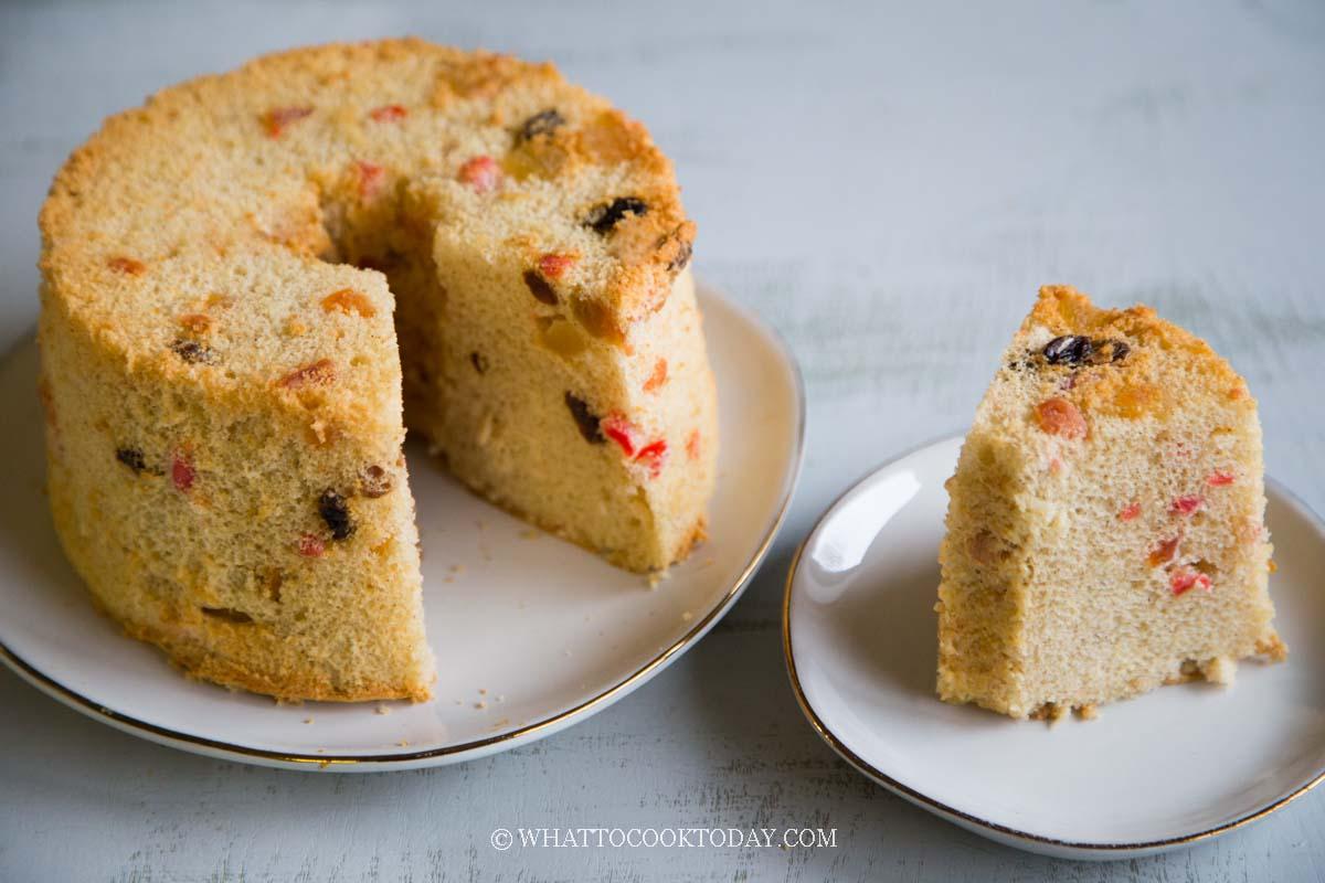 Softy and Fluffy Chiffon Gingerbread Fruit Cake