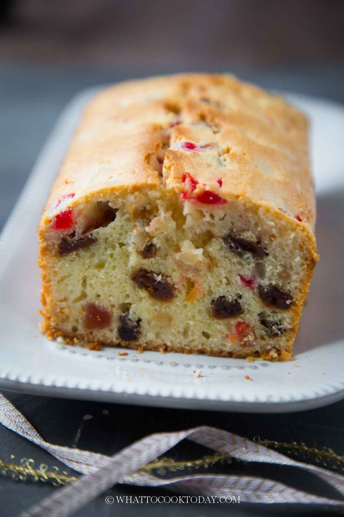 Easy Holiday Cream Cheese Fruit Cake Loaf (No Alcohol)
