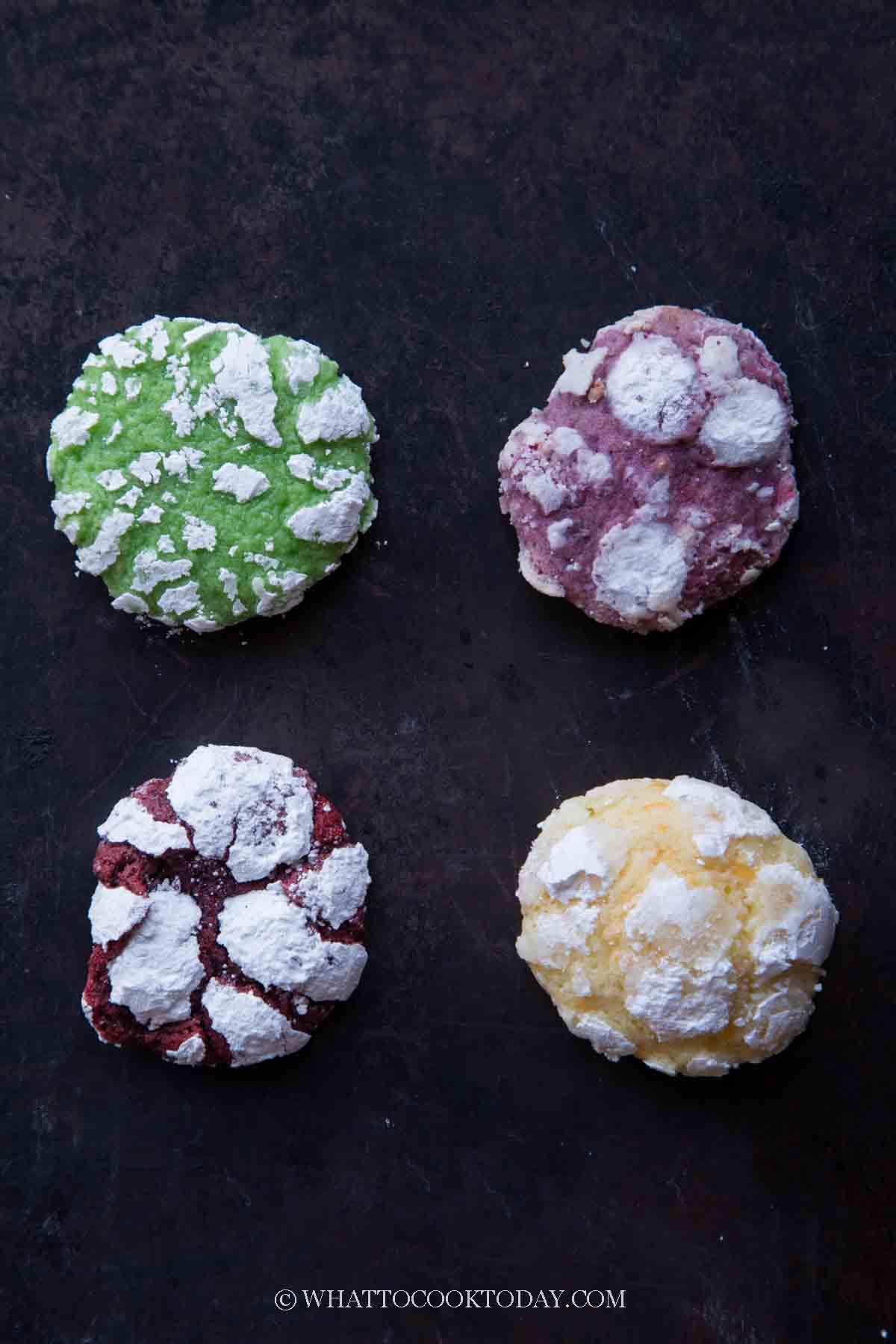 variations of crinkle cookies