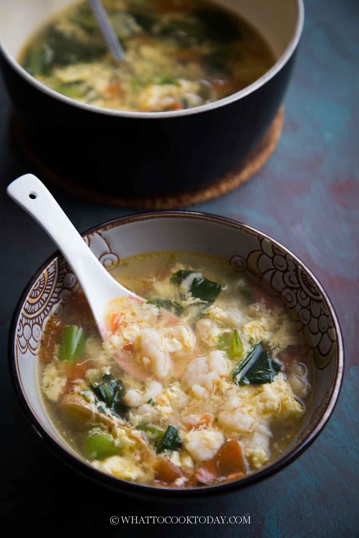 Mian Ge Da Tang (Chinese Dough Knots Soup)