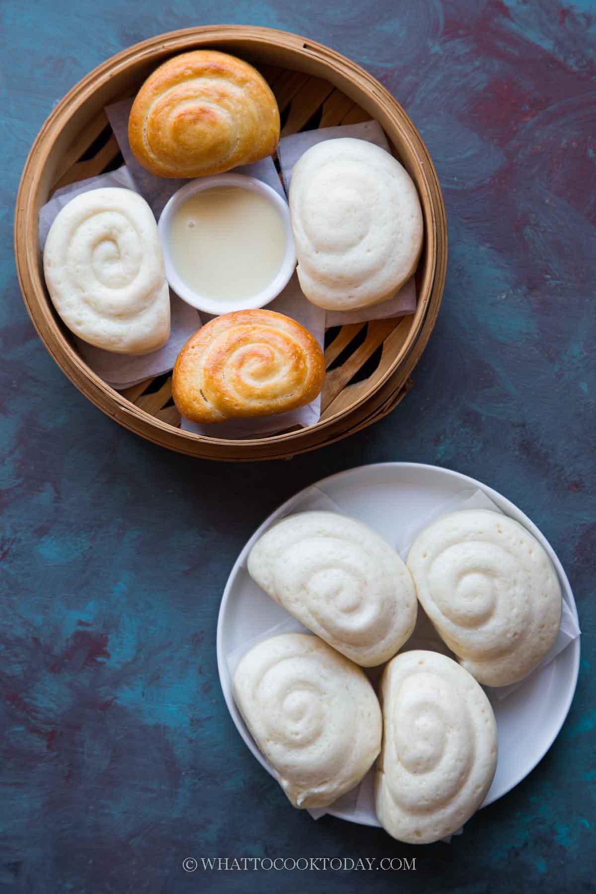 Air Fryer Fried Condensed Milk Mantou