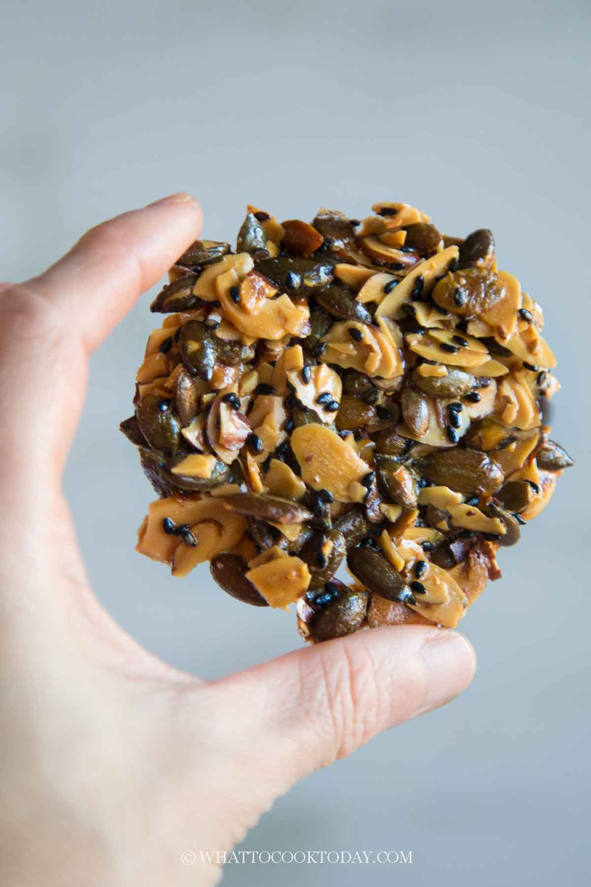 Easy Flourless Almond and Seeds Florentine (Chinese New Year)