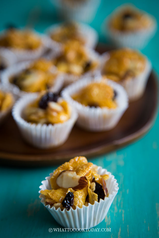 Easy Honey Almond Cornflakes Cups/Clusters