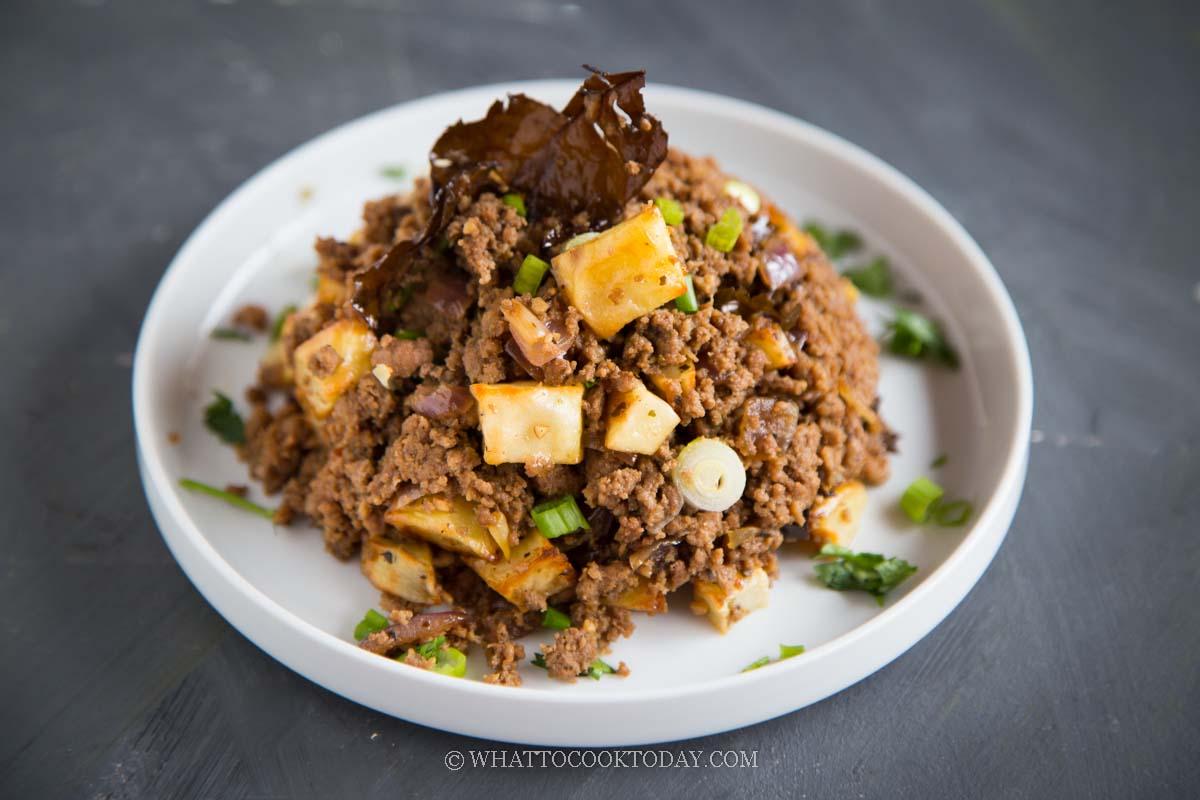 Easy Macanese Minchi/Minchee (Minced Meat Potato Hash)