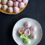 Pandan, Ube, and Cocoa Meringue Cookies (Biskut Meringue)