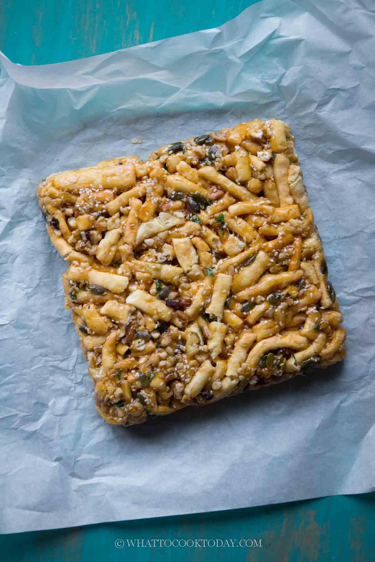 Easy Sachima (Shaqima / Chinese Soft Flour Cake)