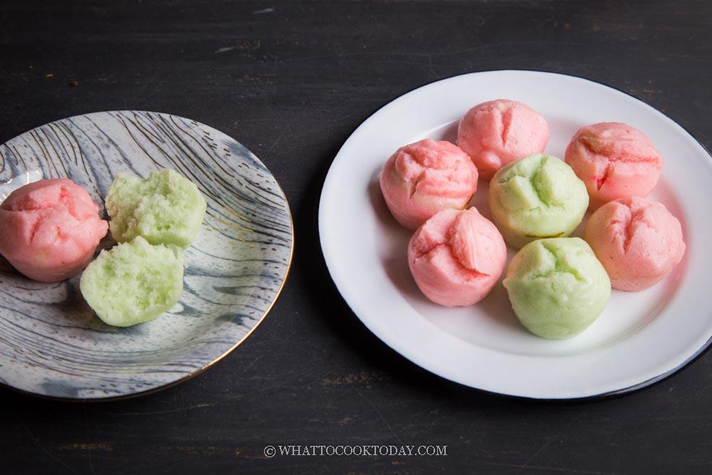 Easy Apam Beras / Apam Nasi (Malay Steamed Rice Cakes)