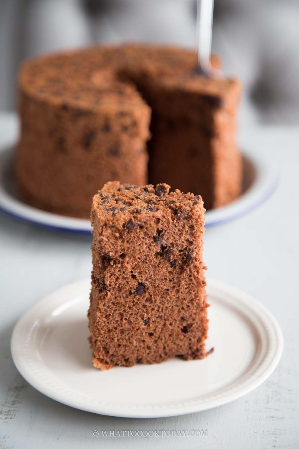 Soft Fluffy Double Chocolate Chiffon Cake