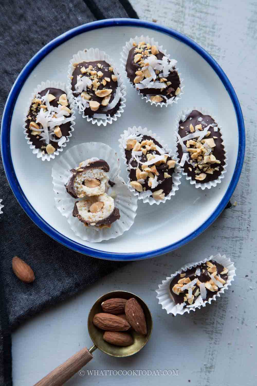 Easy Eggless London Almond Cookies