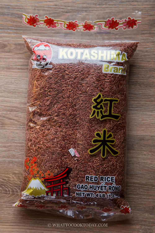 Thai red rice (cargo rice)