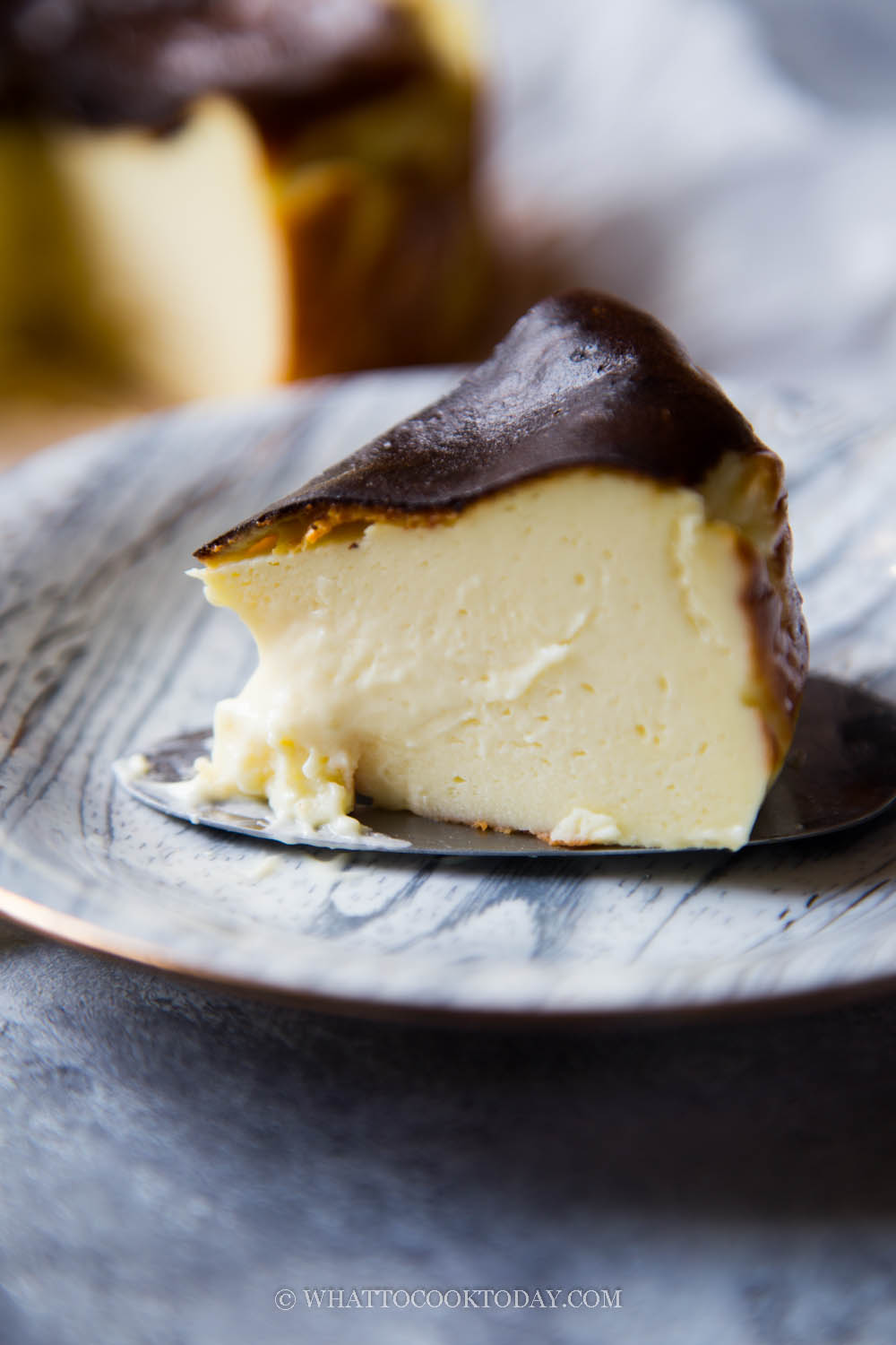 Easy Durian Basque Burnt Cheesecake (Air Fryer or Oven)