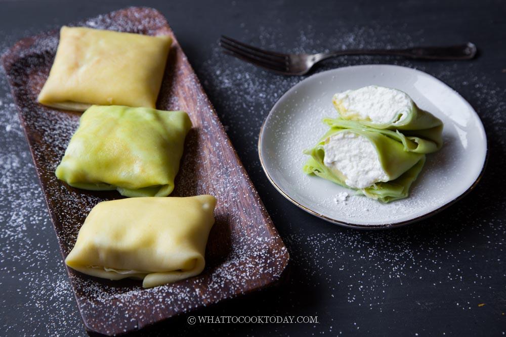 Easy Durian Cream Pancakes / Durian Crepe