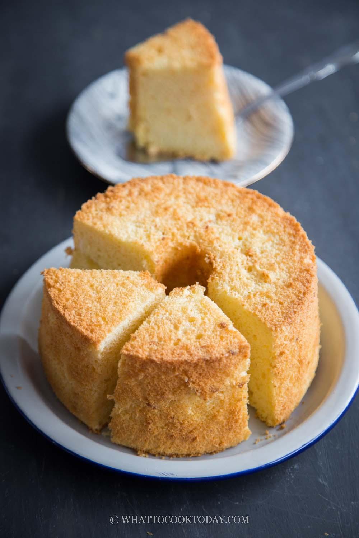 Sweet and Savory Salted Egg Yolk Chiffon Cake