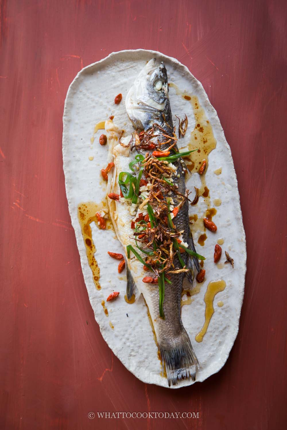 Easy Steamed Fish with Crispy Ginger