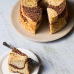 Banana Chocolate Marble Chiffon Cake