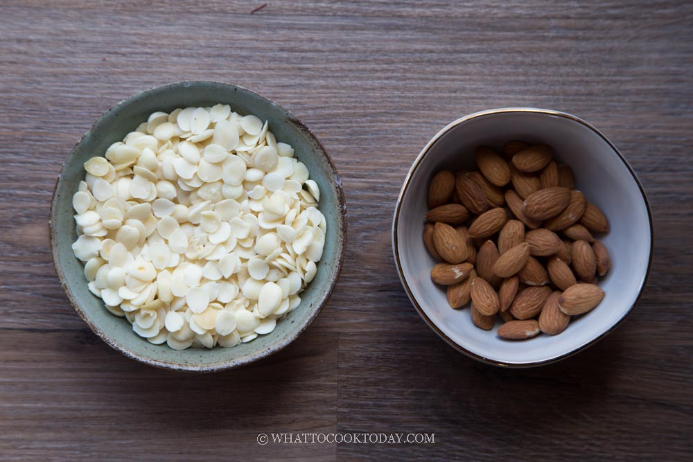Sweet apricot kernel and roasted unsalted whole almonds