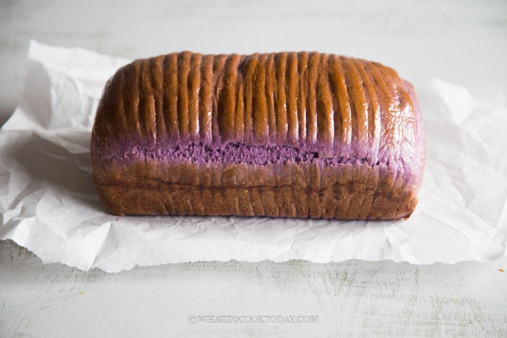 Purple Sweet Potato Wool Roll Bread With Custard Cream