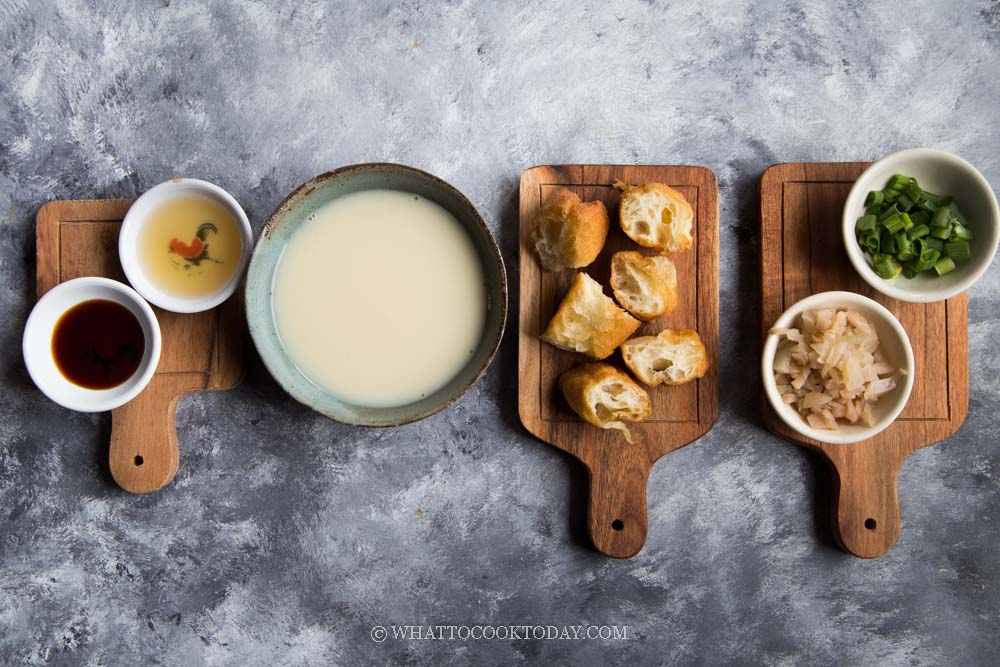 Taiwanese Savory Soy Milk Soup (Xian Dou Jiang)