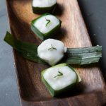 Kuih Tako (Water Chestnut Pandan Coconut Pudding)