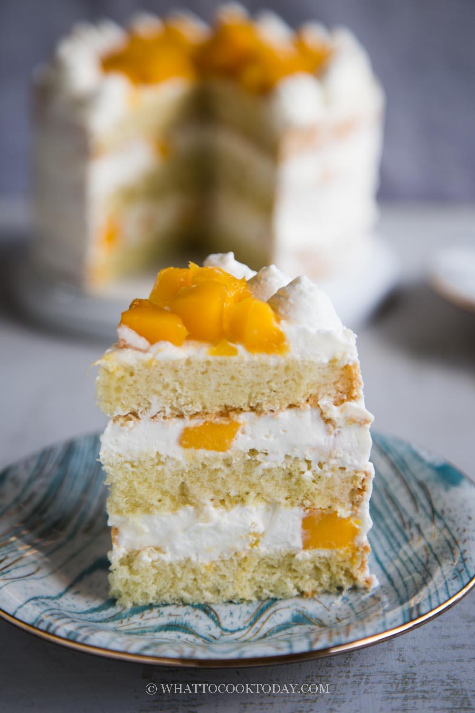 How To Make Mango Sponge Layer Cream Cake