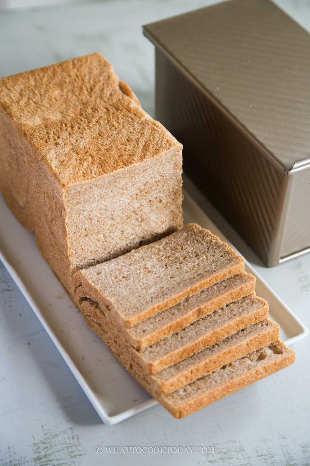 Soft Wholemeal /Whole Wheat Pullman Loaf (Pain De Mie)