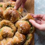 100% Wholemeal/Whole Wheat Green Onion Buns (Sponge Dough Method)