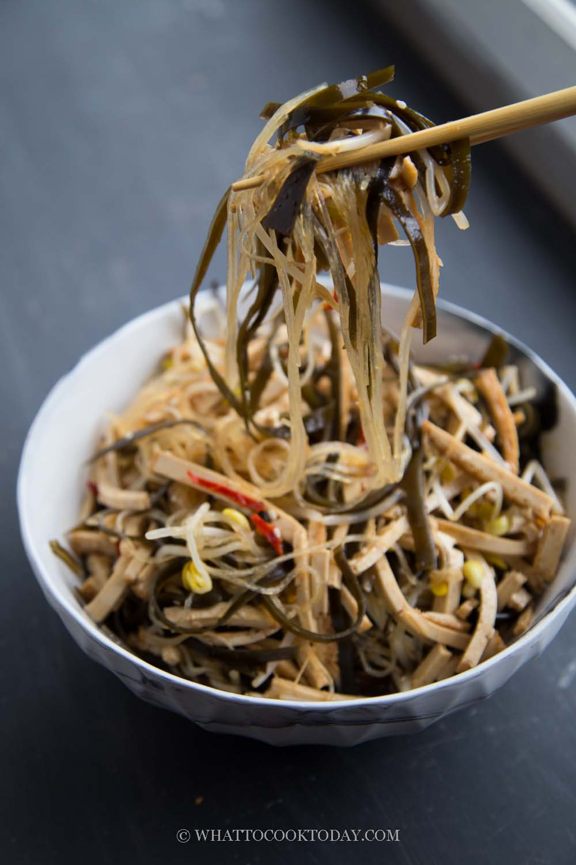 Din Tai Fung - Inspired Seaweed and Bean Curd Salad in Vinegar Dressing
